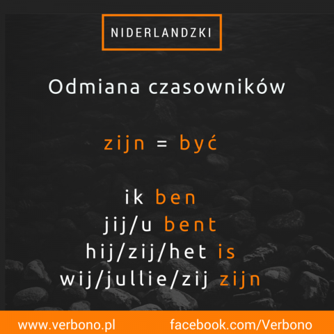 Verbono niderlandzki czasownik zijn