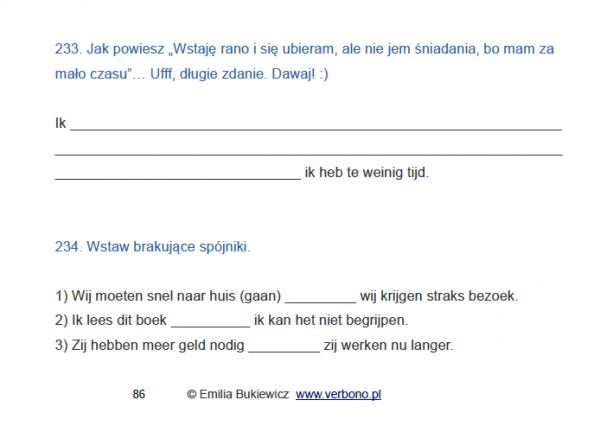 testy cwiczenia niderlandzki